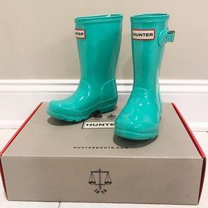 Hunter Original Kids Gloss Waterproof Rain Boots